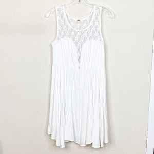 Free People White Dress Sweetheart Neckline Medium